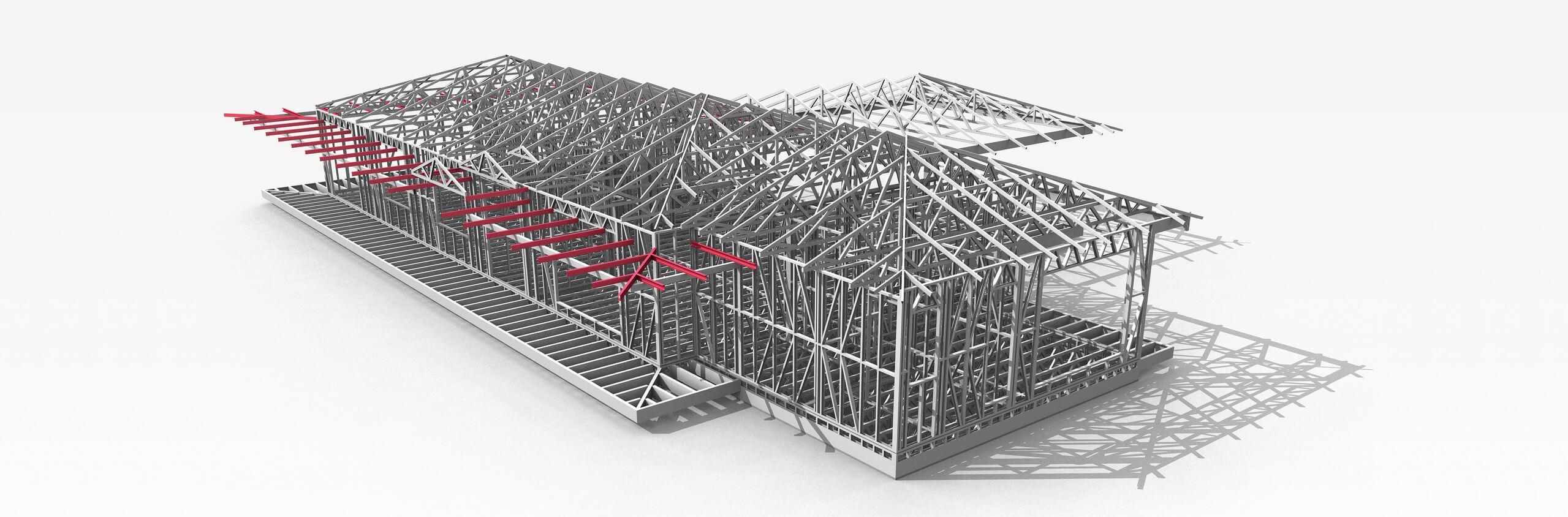 Obrazok ocelovej konstrukcie stavebnej budovy